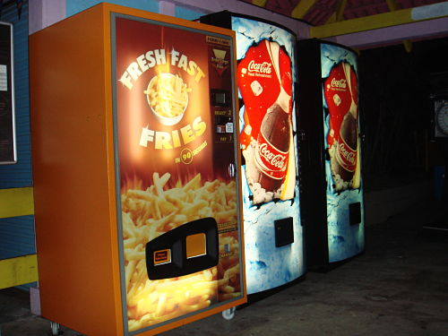 french fries vending machine