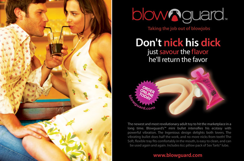 the Blowguard, for BJs and hot dog eating competitions