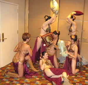 princess leia slave party
