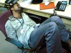 worker sleeping