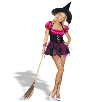 Boring but Sexy Witch w/ Broom (Womens Costume)